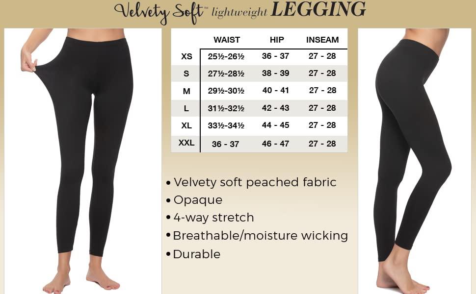 Felina Legging Size Chart