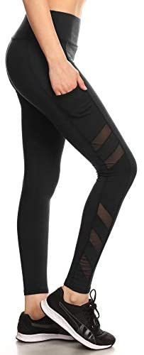 Shosho Womens Yoga Leggings Tummy Control Sports Pants Stretchy Activewear Bottoms