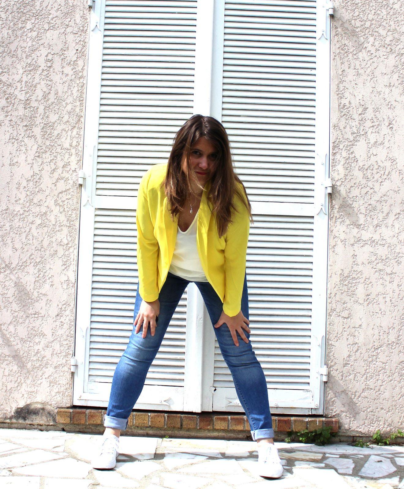 comment porter une veste jaune