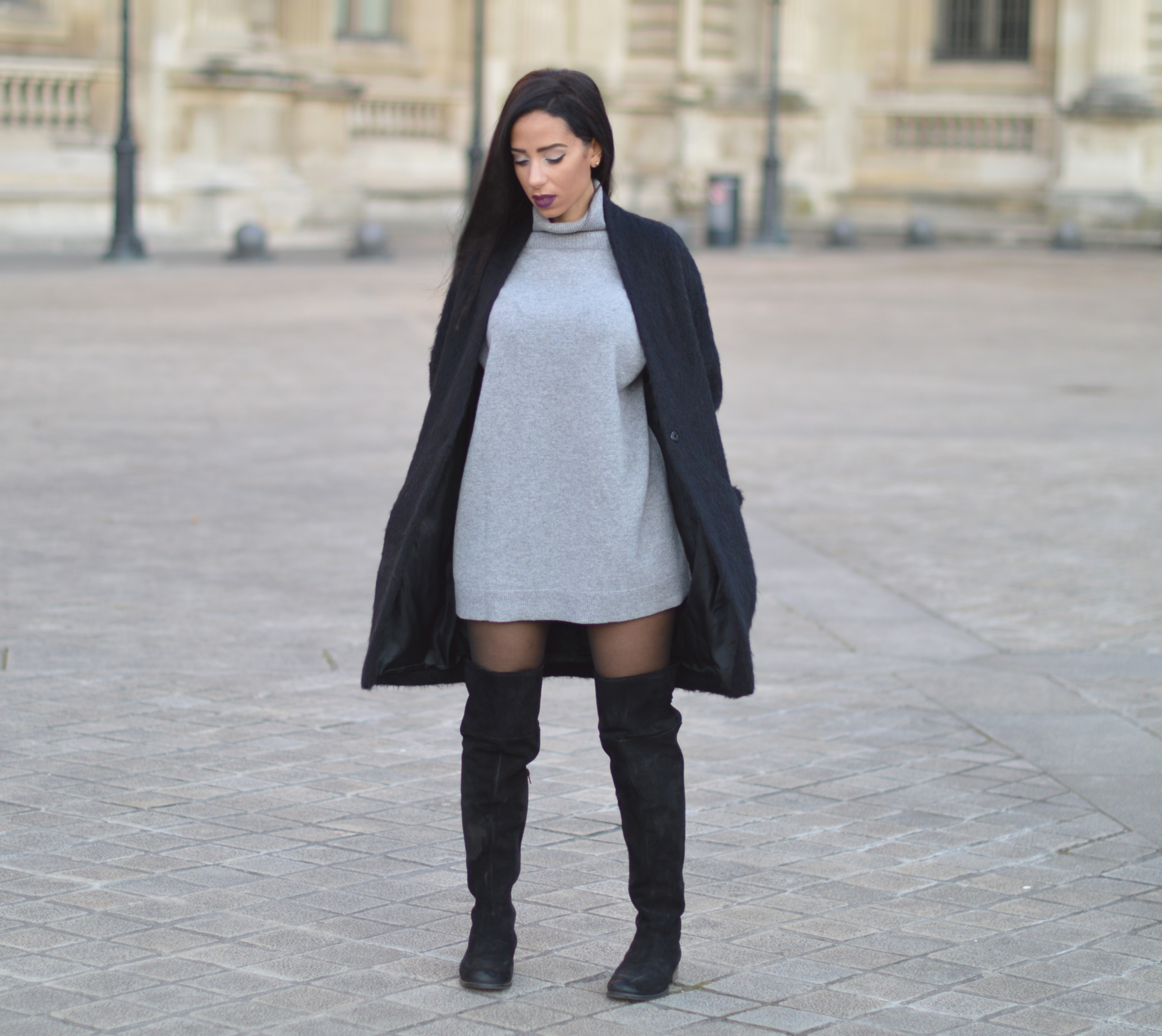 look cuissarde robe pull