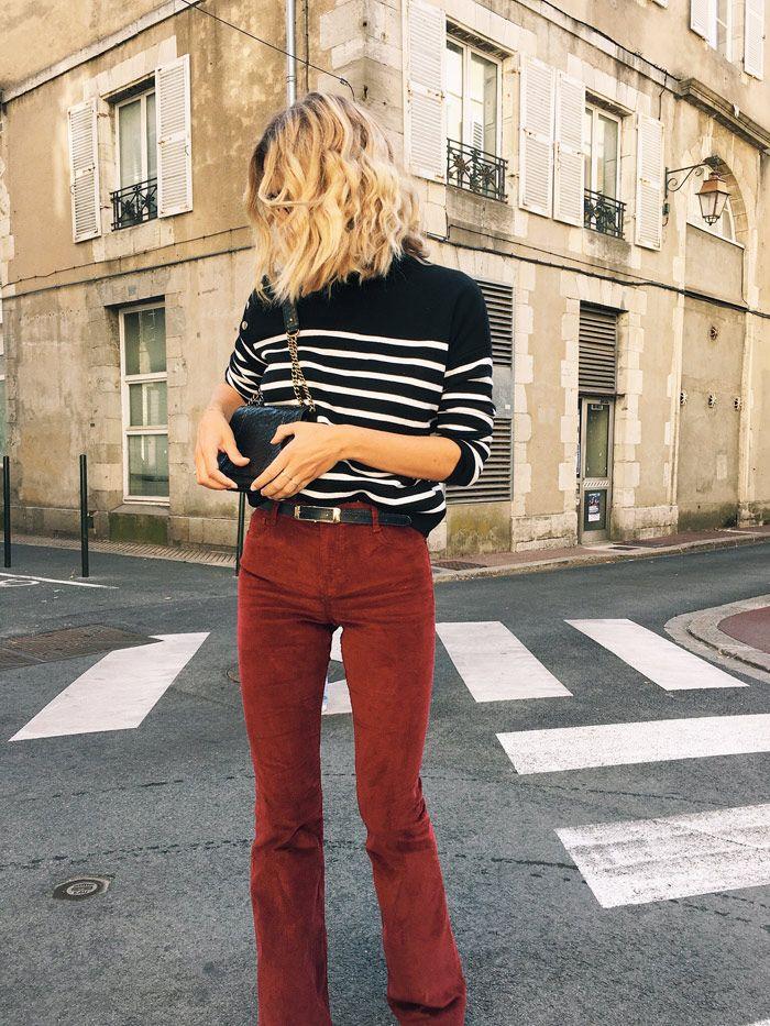 comment porter le pantalon velours