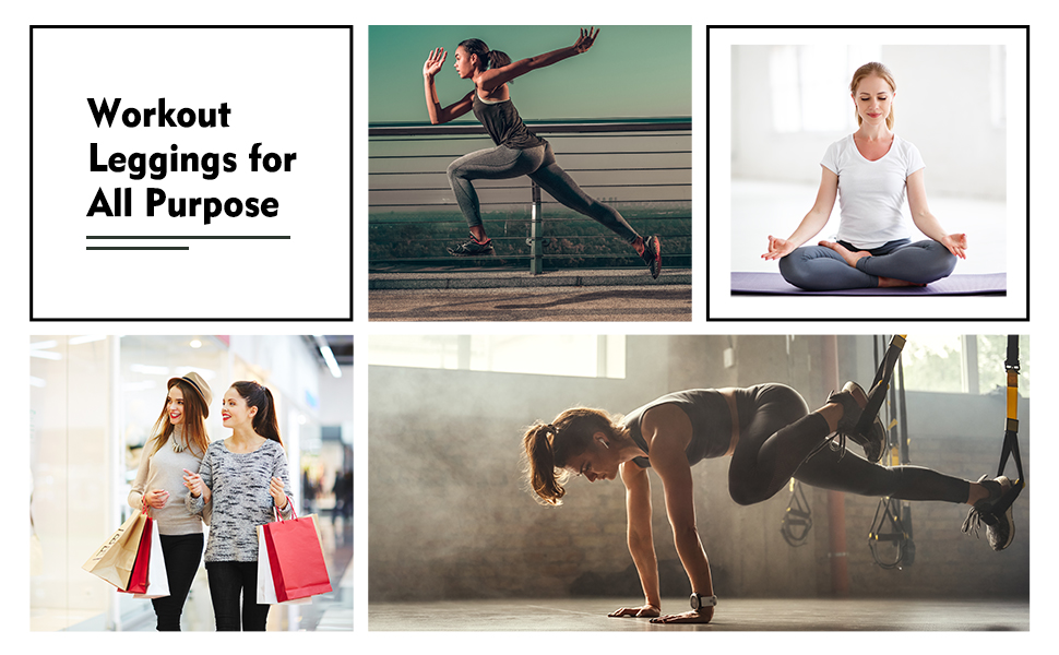 Workout Leggings Sports Pants with Pockets for Women