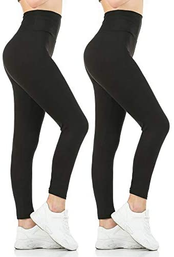 Leggings For Women High Waisted Pack Of 6 Gnpolo Womens Black High Waisted Leggings Pack Soft Slim Tummy Control Trousers Yoga Pants Fitostic Com Sport Mode Beaute Lifestyle Magazine