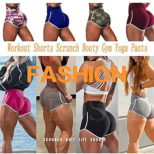 Bloomma Damen Workout Shorts Scrunch Booty Gym Yoga Hose High Waist Butt Lifting Sport Leggings f/ür Yoga Radfahren Laufen
