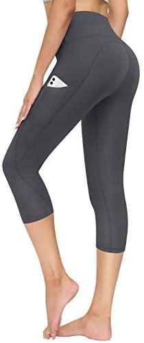 Pocket Yoga Pants Tummy Control Workout Running Pants 4 Way Stretch Yoga Leggings TQD High Waisted Yoga Pants for Women