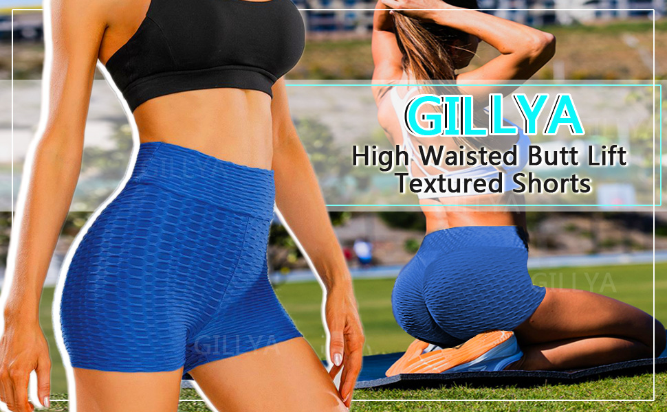 booty shorts textured shorts anti cellulite shorts scrunch butt lift booty yoga shorts high waisted