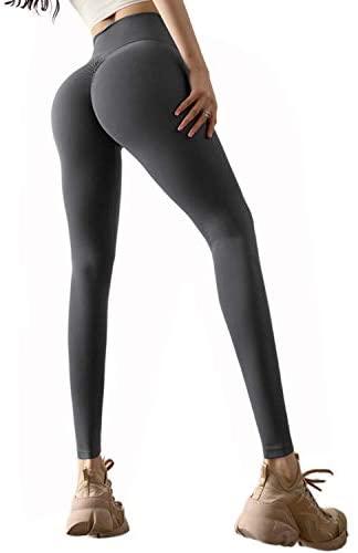 TIK Tok Leggings for Women Butt Lifting Leggings Workout Yoga Leggings Scrunch Booty Lifting Running Tights