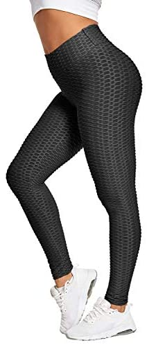Zamowoty High Waisted Leggings for Women Butt Lift Tummy Control Yoga Pants Workout Running Slimming Ruched Tights