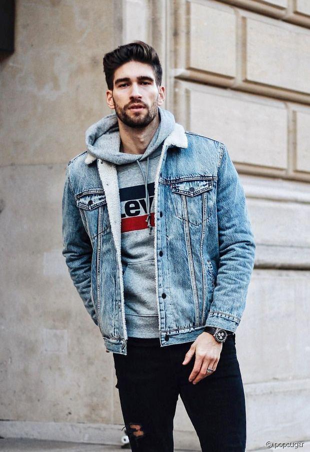 idée tenue veste en jean homme