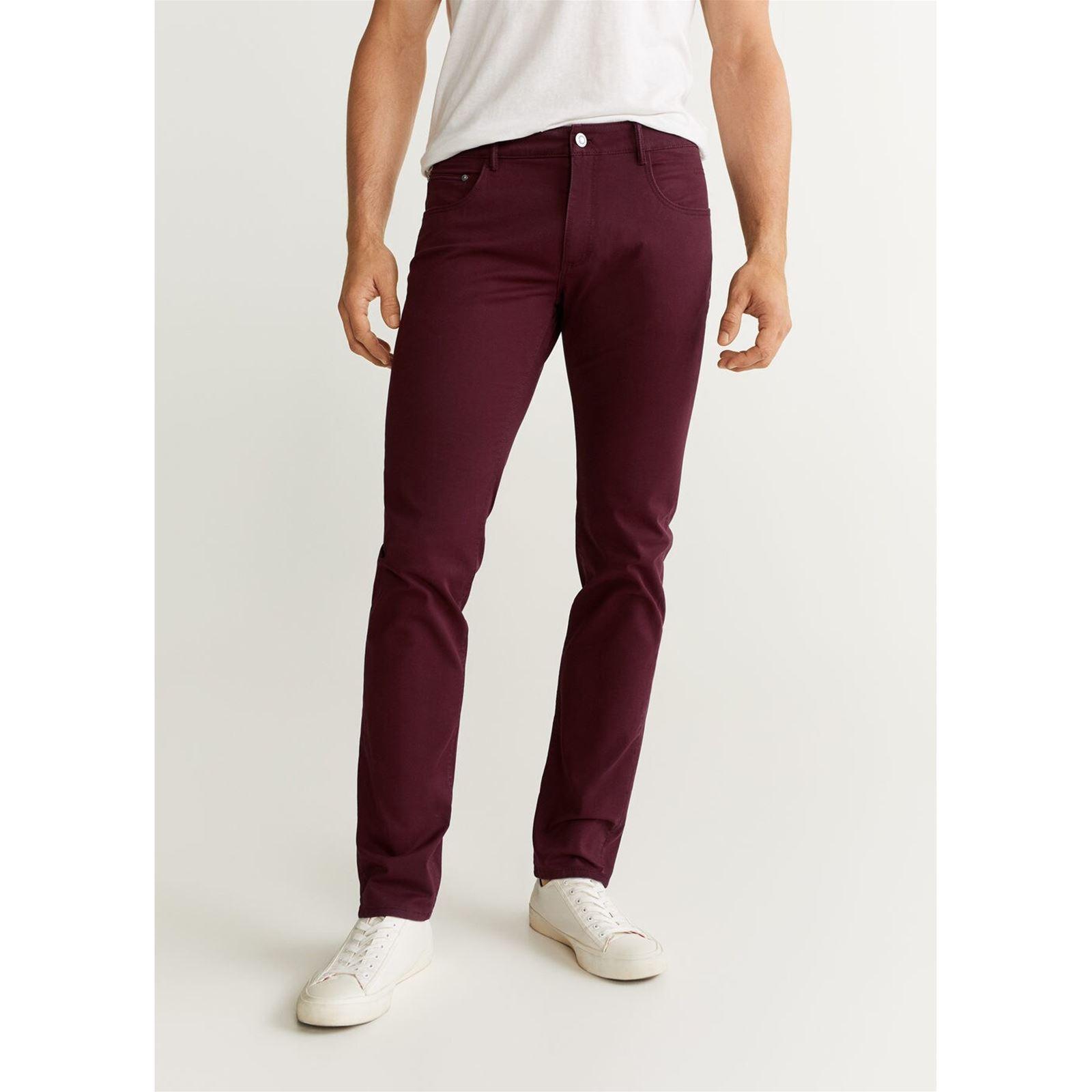 pantalon bordeaux homme