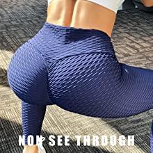 Textured High Waist Yoga Pants  for Women