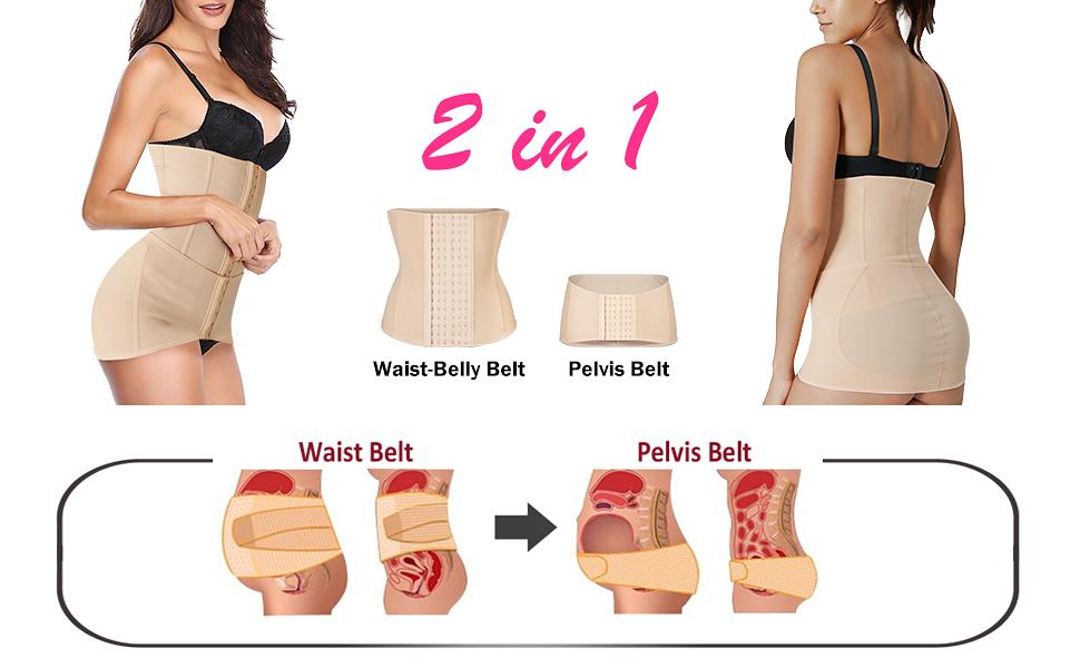 2 in 1 Postpartum Belly Wrap