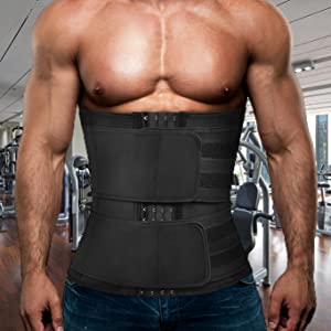 waist trainer with two belts