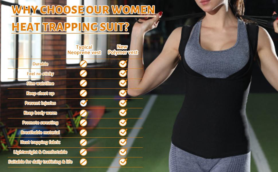 sauna vest heat trapping suit for women weight loss