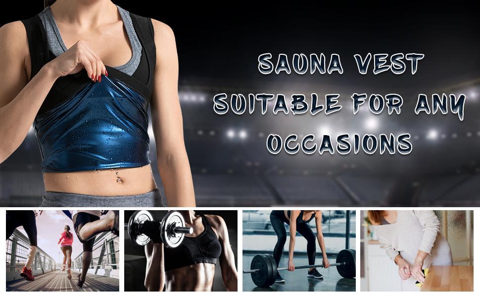 best sauna gym workout shirt for women burn calories