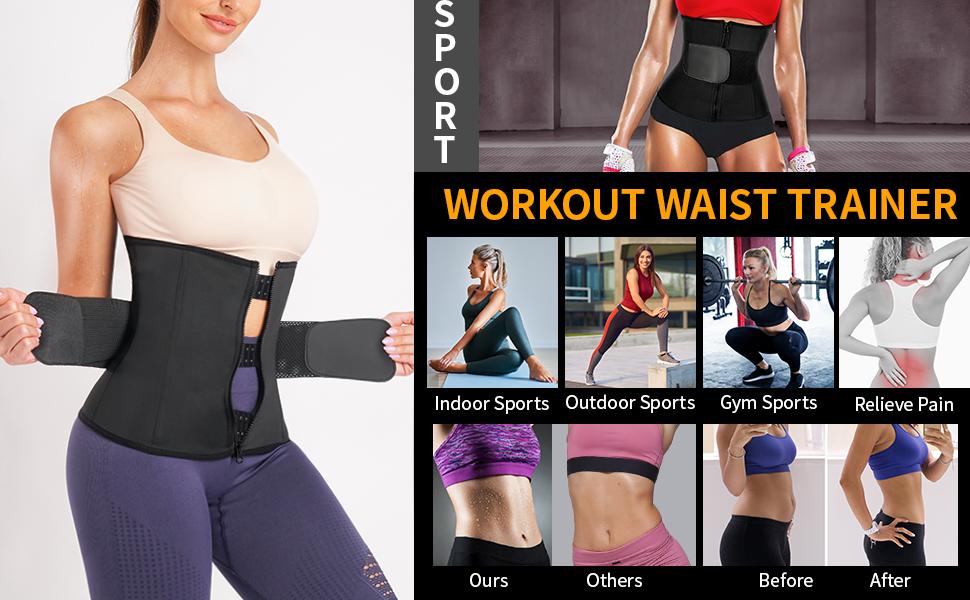 sweat band waist trainer for women