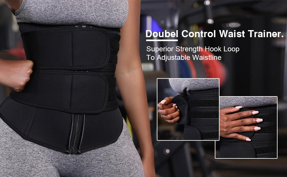 double control waist trainer