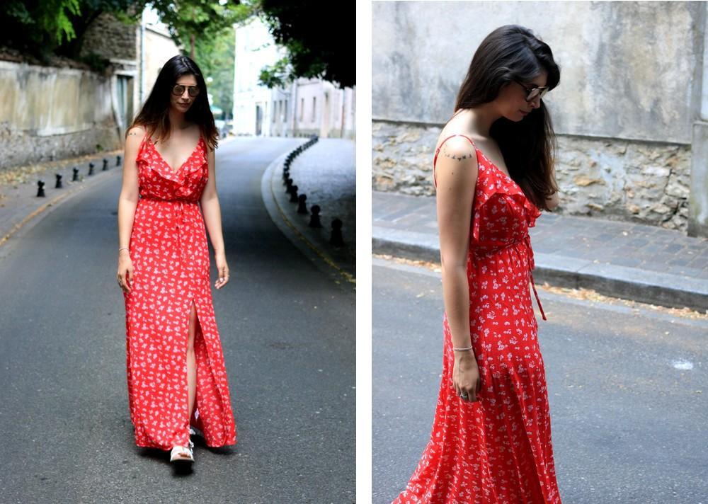 Comment porter une longue robe rouge ?