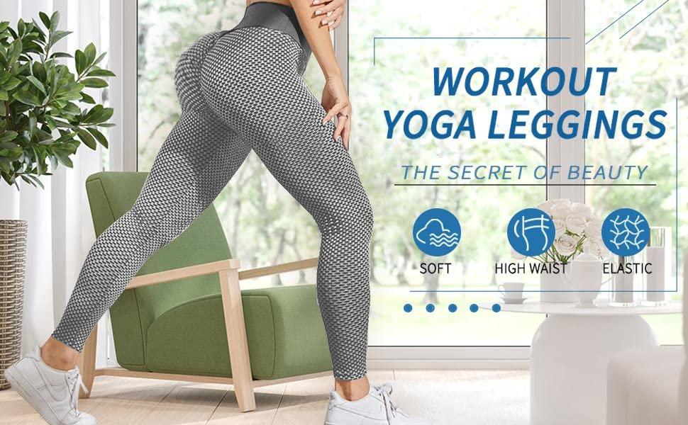 Butt lifting workout sexy peach yoga leggings
